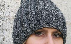 Basic Beenie Hat  Knitted Hat  Hand Knit  Grey от HatsByNataly