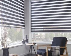 roljaloezie grijs in hoek   Rolgordijnwinkel.nl Blinds For Windows, Home Living Room, Ramen, Curtains, Elegant, Inspiration, Decorations, Home Decor, Modern Blinds
