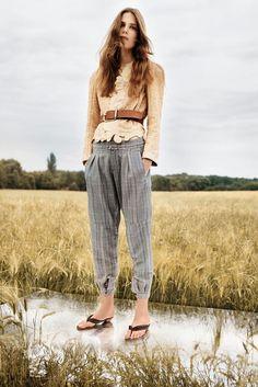 Chloe resort 2013 - harem-cut trouser, lace, belted jacket, effortless chic