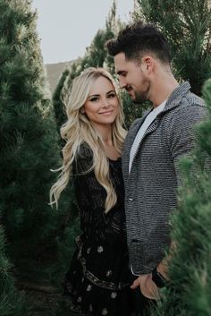 Amanda Stanton wearing Raye Ella Booties in Black, Loveshackfancy Peasant Blouse and Loveshackfancy Ruffle Mini Skirt Christmas Engagement Photos, Family Christmas Pictures, Christmas Tree Farm, Christmas Photo Cards, Family Photos, White Christmas, Couple Christmas Pictures, Christmas Minis, Christmas Photography Couples