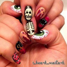 i_heart_nailart's awesome #Halloweenailart! Show us your tips—tag your nail photos with #SephoraNailspotting to be featured on our social sites!