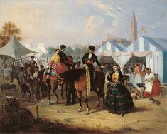 Manuel Cabral Aguado Bejarano. En la Feria de Sevilla, c.1855. Colección Carmen Thyssen-Bornemisza en préstamo gratuito al Museo Carmen Thyssen Málaga