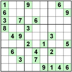 Number Logic Puzzles: 22551 - Sudoku size 9