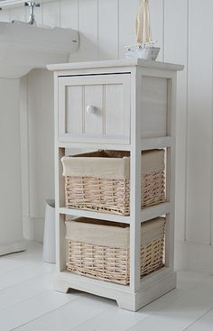 Cape Cod Bathroom Furniture Side Picture With Baskets