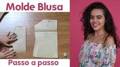 Aula 22 Molde blusa ombro a ombro com elástico Alana Santos Blogger