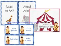 Everything you need for a circus themed classroom!