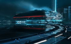 Tron Uprising concept art by Craig Mullins