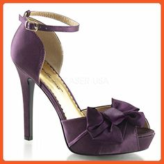 Fabulicious Women's Lumina 36 Ankle Strap,Eggplant Satin,US 7 M - Pumps for women (*Amazon Partner-Link)