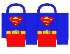 Sacolinha para imprimir Superman... http://digitalsimples.blogspot.com.br/