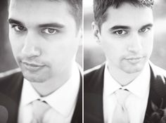 ☆ xoxo. ☆ groom portrait   wedding photography by #littlefangphoto #ideas #fun #handsome #groom #poses #closeup #blackandwhite #photography