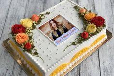 Beautiful Rose Birthday Cake With Photos And Names Birthday Cake Write Name, Birthday Wishes With Name, Happy Birthday Cake Photo, Birthday Cake Writing, Birthday Cake With Flowers, Happy Birthday Love, Beautiful Birthday Cakes, Happy Birthday Cakes, Birthday Greetings