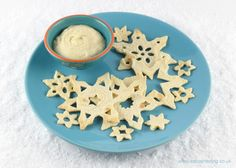 Easy snowflake tortilla crisps - great for packing in lunch boxes, Christmas party food or a fun snack for kids.