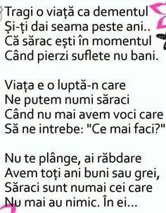 Sarac esti cand pierzi suflete nu bani. Motto, Cool Words, Life Is Good, Love Quotes, Nostalgia, Sad, Messages, Sayings, Mindfulness