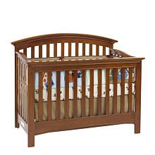 The Baby Cache Essentials Curved Lifetime Crib In Chestnut Is A Traditional And Elegant Perfect For Any Nursery