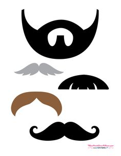 Free Photo Booth Props #Mustaches #PuppyShower #DogBirthdayParty #PuppyPawty