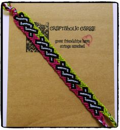 Woven Twisted Tie Knot Friendship Bracelet #34003 by CraftaholicCarrie on Etsy