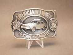 Vintage American Lawmen Belt Buckle By Siskiyou Buckle Co Vintage Belt Buckles, Cufflinks, American, Ebay, Accessories, Store, Inspiration, Biblical Inspiration, Larger