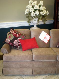 ... Grand Island, NE Floortoceilinggi.com. Small Apartment Size Sofa, With  Accent Pillows, Choose Your Own Fabric. Floor To