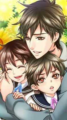"""Glenn and his two boys: """"Come here, you two! I've missed you!.."""" #BeMyPrincess"""