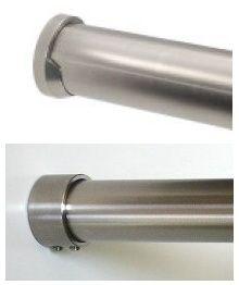 Edelstahl Garderobenstange auf Maß für Nischen 30x2 mm