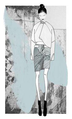 Ana Vicente. Concurso BLOOM PORTUGAL FASHION Portugal, Bloom, Illustration, Fashion, Notebook, Moda, Illustrations, Fasion, Trendy Fashion
