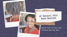 4C NATURAL HAIR WASH ROUTINE - YouTube Grow Long Hair, Grow Hair, 4c Natural Hair, Relaxer, Natural Styles, Post Pregnancy, Curly Hairstyles, Your Hair, Routine