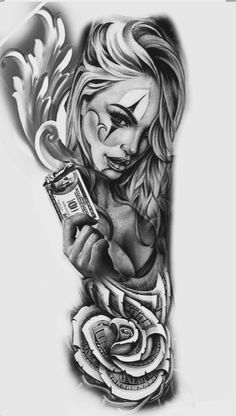 laleknoocritu - 0 results for tattoos Chicano Tattoos Sleeve, Chicano Style Tattoo, Irezumi Tattoos, Full Sleeve Tattoos, Chicanas Tattoo, Clown Tattoo, Money Tattoo, Card Tattoo Designs, Tattoo Design Drawings