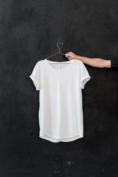 I have been searching for a basic white tee like this for ages.