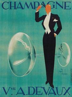 Ernst Deutsch Dryden (1883-1938, Austrian), 1938, Champagne Veuve A. Devaux, 154.9 x 114.9 cm.