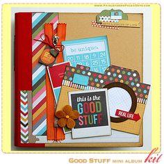 @snap albums at Paisleys & Polka Dots: mini album kits with instructions (via scrapclubs.com) #camerapolaroid