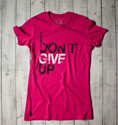 Gymdoll - I Don't Give Up Tee - Pink