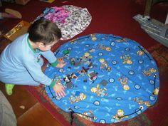 Játéktároló-szőnyeg