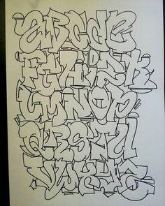 La imagen puede contener: dibujo Graffiti Alphabet Styles, Graffiti Lettering Alphabet, Tattoo Fonts Alphabet, Graffiti Words, Best Graffiti, Graffiti Designs, Graffiti Characters, Graffiti Drawing, Alphabet Art