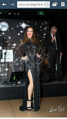 Wearing Betty Tran at the Men in black ball at the Pan Pacific hotel Perth Western Australia