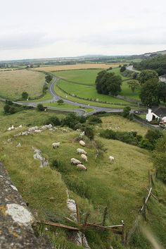 View from the Rock of Cashel, county Tipperary, Ireland