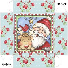Cajitas Imprimibles de Santa y Rudolph. - Ideas y material gratis para fiestas y celebraciones Oh My Fiesta!