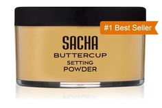 Sacha Buttercup Setting Powder - Finely Milled and Flash-Friendly. 1oz (28g)