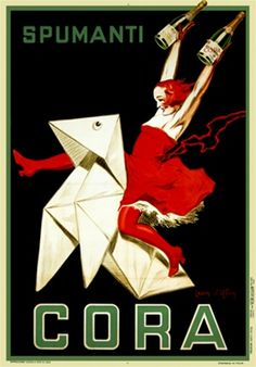 Spumanti Cora poster by DYlen 1921 Italy - Vintage Poster Reproductions. Shop online at www.postercorner.com