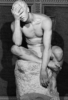 Male figure sculpture by Emilio Gallori Carpeaux, Steinmetz, Art Sculpture, Anatomy Sculpture, Anatomy Reference, Male Figure, Oeuvre D'art, Sculpting, Fine Art