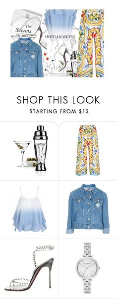 """""""Night thinking, day dreaming"""" by no-where-girl ❤ liked on Polyvore featuring L'Atelier du Vin, Dolce&Gabbana, Topshop, Christian Louboutin, Kate Spade and motojackets"""