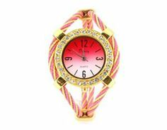 Tanboo Women's Quartz Wrist Watch with Diamond Decoration (Pink) by Tan Watches. $8.99. Watch. Sports Fan Watch. Golden,white and red dial with digital marker and diamond decoration.Special design band.Stainless steel back.Precise quartz movement.Super hardened scratch resistant mineral.