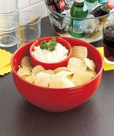 Chips and dips are Super Bowl party favorites -- make sure you have the right bowls! #superbowl #football #party
