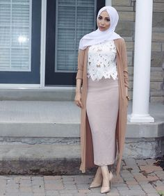 Super Ideas For Skirt Pencil Hijab Outfit Arab Fashion, Islamic Fashion, Muslim Fashion, Modest Fashion, Fashion Dresses, Modest Outfits, Skirt Outfits, Chic Outfits, Summer Outfits