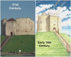 York Castle (known as Clifford's Tower) where Robert Aske, one of the leaders of the so- called Pilgrimage of Grace, was hanged in chains by order of Henry Pilgrimage Of Grace, Catholic Orders, York Castle, Dissolution Of The Monasteries, British Isles, 16th Century, Tudor, Ancestry, Farmer