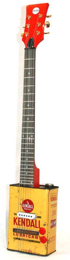 Kendall Lubricant Vintage Bohemian Guitar #Boho #guitar #oilcan