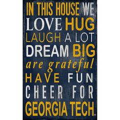 Georgia Tech Yellow Jackets In This House Wall Art, Multicolor