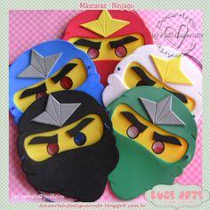 Doce Arte by Pati Guerrato: Máscaras Ninjago