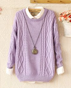 Color:+purple/rose+red/apricot Material:+Knitted+cotton+blended Shape:+Loose+fitting Heat:+Twist+weave Fashion+Twisted+Round+Neck+Long-sleeved+Sweater&Cardigan+,Soft+and+comfortable+knit+cotton+blended. Cheap Cardigans, Cardigan Sweaters For Women, Cute Sweaters, Girls Sweaters, Cable Knit Sweaters, Cardigans For Women, Long Sleeve Sweater, Sweater Cardigan, Comfy Sweater