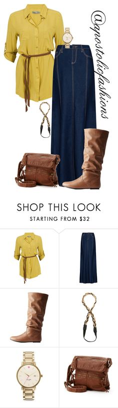 """""""Apostolic Fashions #1600"""" by apostolicfashions ❤ liked on Polyvore featuring Soaked in Luxury, MANGO, Charlotte Russe, Jules Smith, Kate Spade, SONOMA Goods for Life, modestlykay and modestlywhit"""
