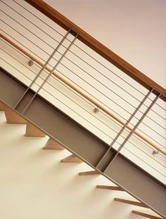 steel and wood stair